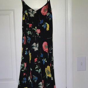 Black with florals sun dress